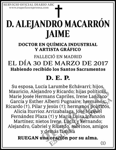 Alejandro Macarrón Jaime